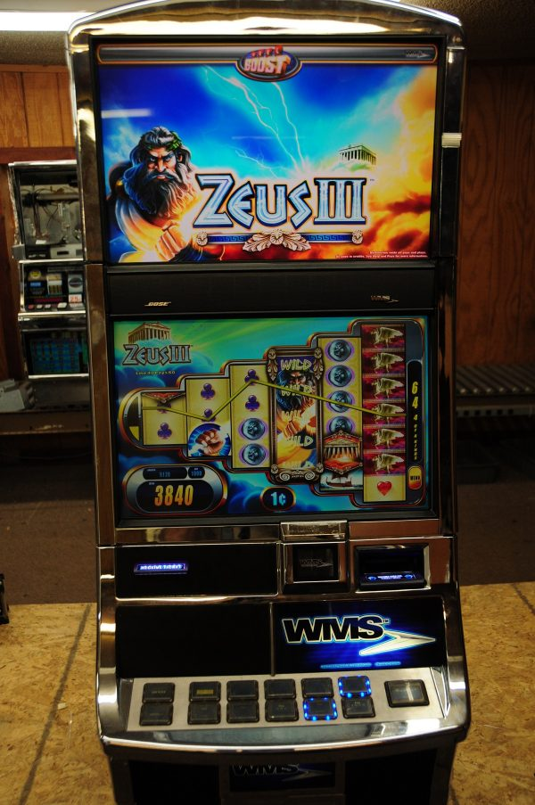 Williams Bluebird 2 Zeus III Used Slot Machine by Rocky Mountain Slots